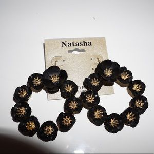 Natasha: Flower hoops Earrings
